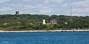 New England Lighthouse Prints - Nobska Point Light Woods Hole Print by Michelle Wiarda
