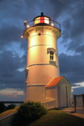 Nobska Point Lighthouse Print by Roupen  Baker