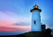 Vineyard Art Photo Posters - Nobska Point Lighthouse Poster by Thomas Schoeller