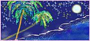 Puerto Rico Digital Art Prints - Noche Tropical Print by Alice Terrill