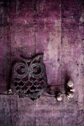 Wood Planks Metal Prints - Nocturnal In Pink Metal Print by Priska Wettstein