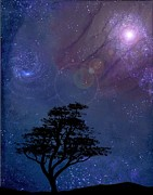 Starfield Digital Art Posters - Nocturnal Poster by Mike Swift