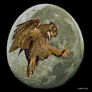 Nocturnal Prints - Nocturnal Raptor Print by Larry Linton