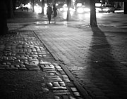 Cobble Stone Posters - Nocturne - Night - New York City Poster by Vivienne Gucwa