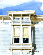 Element Painting Originals - Noe Valley Bay Window by Jerry  Grissom