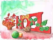 Navidad Paintings - Noel-Christmas-greeting-card by Carlos G Groppa