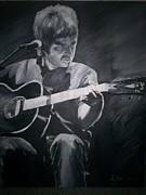 Icons Painting Originals - Noel Gallagher by Gary Boyle
