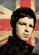 Vector Art Prints - Noel Gallagher Print by Tom Deacon