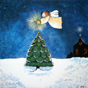 Night Angel Paintings - Noel by Michelle Nardi