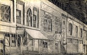 Melodrama Drawings Prints - Noir Street Print by Mel Thompson