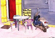 Outdoor Cafe Paintings - NOLA Cafe by D K Betts