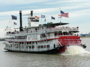 Natchez Prints - NOLA Natchez Riverboat Print by Joy Tudor