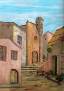 Italian Landscape Painting Originals - Nola by Pamela Allegretto