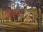 Egg Tempera Painting Metal Prints - Nolan Corners Farmhouse Metal Print by Peter Muzyka