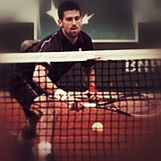 Sports Art - Nole by Manuel M Almeida