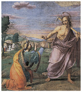 Religious Art Paintings - Noli me tangere by Franciabigio