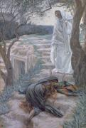 Mary Magdalene Metal Prints - Noli Me Tangere Metal Print by Tissot