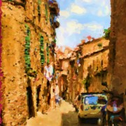 Sienna Italy Digital Art - Noon in Sienna by Asbjorn Lonvig