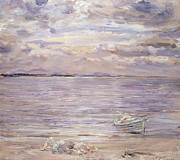Purple Paintings - Noontide Jovies Neuk by William McTaggart