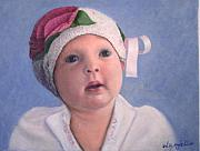 Toddler Portrait Paintings - Nora Rose by William H RaVell III