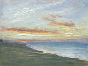 Norfolk; Painting Prints - Norfolk Coast Print by Albert Goodwin