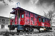 Caboose Framed Prints - Norfolk Western Caboose 57558 Framed Print by Steve Hurt