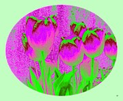 Frame House Digital Art Prints - Noric House Tulips Print by Will Borden
