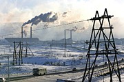 Power Plants Prints - Norilsk Industrial Centre, Russia Print by Ria Novosti