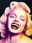 Hollywood Legends Painting Originals - Norma Jean by Bruce Carter