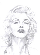 Entertainer Drawings Prints - Norma Jean Print by Carol Wisniewski