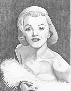 Actresses Drawings Framed Prints - Norma Jean Framed Print by Seventh Son