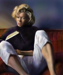 Blonde Paintings - Norma Jeane Baker by Reggie Duffie