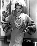 Velvet Framed Prints - Norma Shearer, 1930s Framed Print by Everett