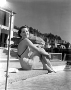 Bathing Suit Prints - Norma Shearer, Mgm Photograph Print by Everett