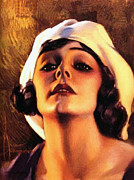 Vintage Painter Painting Prints - Norma Talmadge 1920 Print by Stefan Kuhn