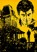 Cult Drawings Framed Prints - Norman Bates Psycho Framed Print by Giuseppe Cristiano