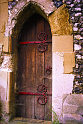 Decaying Prints - Norman Church Door Print by Gordon Wood