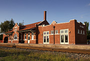 Train Depot Prints - Norman Train Depot Print by Ricky Barnard