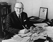Peale Photo Posters - Norman Vincent Peale Was An American Poster by Everett