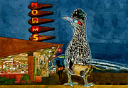 Roadrunner Paintings - Norms Roadrunner by Cecily Willis