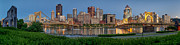 Allegheny River Posters - Norside Pano Poster by Jennifer Grover