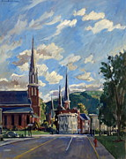 Abstract Realist Landscape Posters - North Adams Massachusetts Poster by Thor Wickstrom
