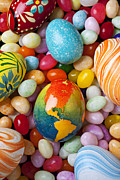 Painted Food Prints - North America Easter Egg Print by Garry Gay