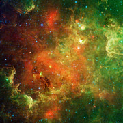 Nasa Space Program Posters - North America Nebula Poster by NASA and JPL Caltech and Photo Researchers
