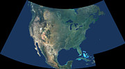 Cartography Photos - North America by Stocktrek Images