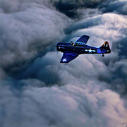 Storm Digital Art - North American Aviation T-6 Texan by Chris Lord