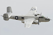B-25 Bomber Prints - North American B-25J Mitchell N9856C Pacific Princess May 14 2011 Print by Brian Lockett