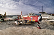Museo Del Ejercito Del Aire Prints - North American F-86  Print by Miguel Diaz