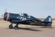 Casa Grande Posters - North American NA-50 replica Lone Eagle N202LD Casa Grande Airport Arizona March 5 2011 Poster by Brian Lockett