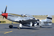 North American P-51 Mustang Framed Prints - North American P-51D Mustang NL5441V Spam Can Valle Arizona June 25 2011 3 Framed Print by Brian Lockett